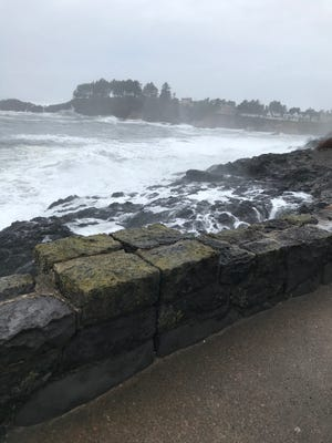 A man stepped over this sea wall in Depoe Bay and was swept into the ocean Thursday