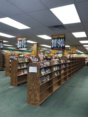 A view from inside the downtown Manitowoc Book World store Thursday. Saturday will be the store's last day in business.