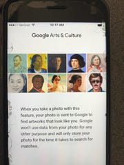 """The Google app requires the user to first OK this page, which states in part: """"Google won't use data from your photo for any other purpose and will only store your photo for the time it takes to search for matches."""""""