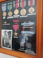 Medals Bryce Thompson earned during his service in
