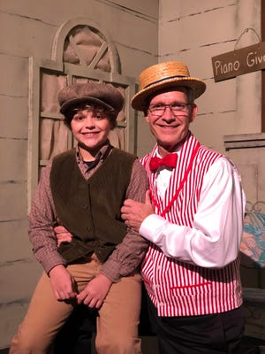 "Father and son duo, Steve (right) and Sam McCulley, are performing in StarStruck Theatre's ""The Music Man."""