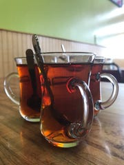 The traditional Turkish tea at As Evi Turkish Cuisine is called cay (pronounced chai).