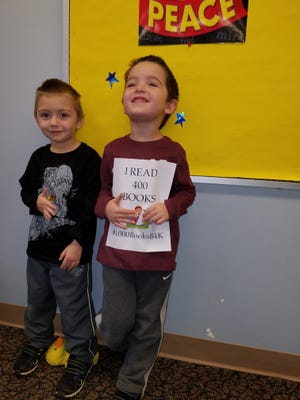 Cumberland County Library announced that Nathan (left) and Mason Sheppard, both age 5, from Hopewell, have just completed reading 400 books! The boys are well on their way to completing the goal of reading 1,000 books before kindergarten. For information on children's programs at the library, call (856) 453-2210 or visit the library at 800 E. Commerce St., in Bridgeton.