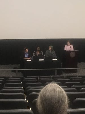 After they showed the film, Very Young Girls, panelists shared their insight on trafficking in Florida.