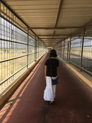 Frankie Filippone starts the almost 2-kilometer caged