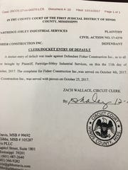Partridge-Sibley Industrial Services filed an entry