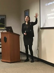 Alise Coen, Ph.D., from UW-Manitowoc, drove a discussion