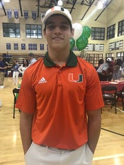Community School of Naples' Trent Bell signed with the University of Miami.