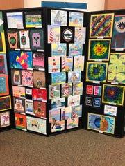 Art Display featured at the Elementary Student Art