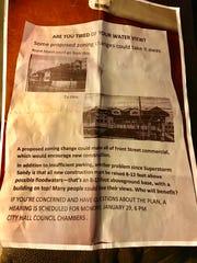 Perth Amboy Mayor Wilda Diaz said this flyer about