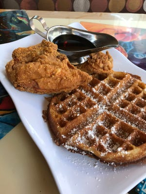 Chicken and waffles is the big seller at The Cozzy Corner in Appleton, making it this week's Hot Dish.