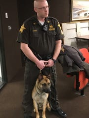 Sgt. Josh Wolfal is the handler for the Wayne County