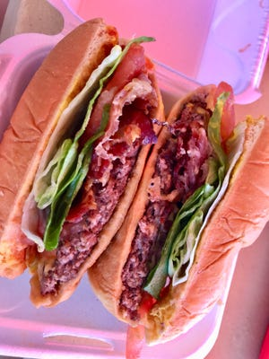 Simple, delicious. The cheeseburger from Matt's Red Hots in San Carlos Park.