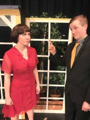 "Emily Decker, left, and Jack Murry have leadings roles in the North Hunterdon High School's Theatre Organization's production of ""Thoroughly Modern Millie,"" on stage March 2, 3, and 4."