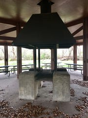 A pavilion at St. Bernard State Park features a large