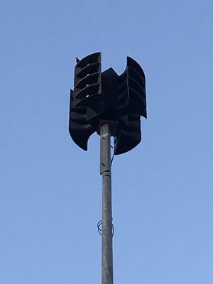 The emergency alert siren at Liberty Park in Clarksville.