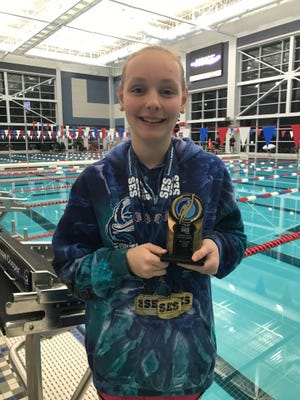Megan Corcoran, 12, a sixth-grader at Beulah Middle School and standout swimmer for the Greater Pensacola Aquatic Club, won five of six events at the Southeastern Region Championships in Huntsville, Alabama.