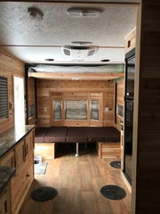 American Surplus and Manufacturing sells about half of the ice houses purchased in the company's home state of Minnesota. This RV costs $34,400 and is among the company's most popular.