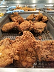 Huck's World Famous Fried Chicken won our blind tasting by a large margin. The chicken is only available at select Huck's stores.