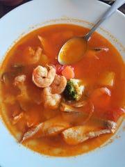 Light eaters will enjoy Herradura's soups, such as