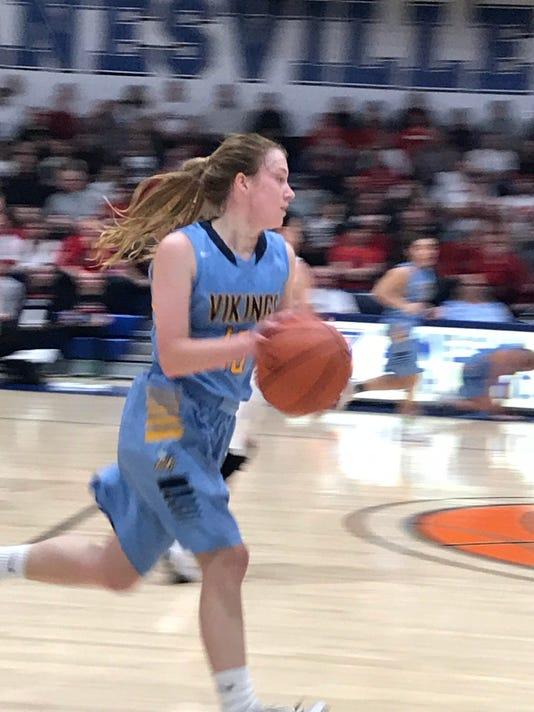 River valley girls basketball Mackenzie Warner