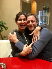 Frances Alban and Roberto Tomasello, now engaged, met