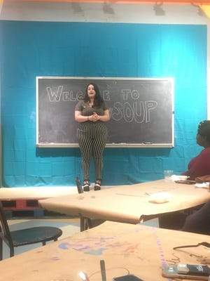 Director of Food Recovery Network at FSU, Gabrielle Maynard, spoke about their registered student organization, which ultimately won the SOUP competition.