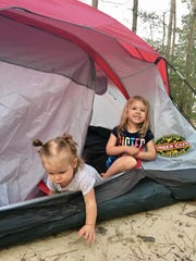 The Guidrys camped in a tent at South Toledo Bend State