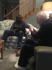 Bob Chapman, a former MSU basketball player, met last month with Gus Ganakas, his former coach, in East Lansing. They shared several laughs and a few tears.