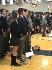 A prayer service was held at Immaculata High School,
