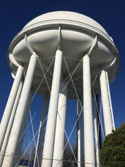 This is the water tower today. It is owned by City
