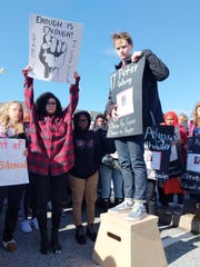 Zack Strickland, a senior at Concord High, stands on