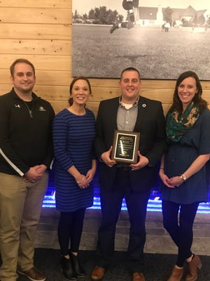 Boys & Girls Club of Fond du Lac CEO Dan Hebel was named 2018 Wisconsin CEO of the Year by Wisconsin Boys & Girls Clubs at their spring meeting. Pictured are, from left: Dillon Wiese, director of Teen Services; Pam Sippel, director of Elementary Services; Dan Hebel, CEO; and Karissa Schneider, director of Operations.