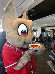 El Paso Chihuahuas mascot Chico is excited about the