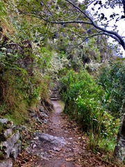 The view along the Inca Trail in Peru.