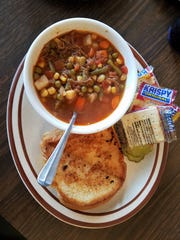 Soups are homemade at Bangie's. The vegetable beef