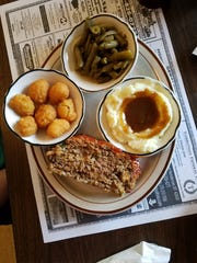 Plate lunch specials change daily at Bangie's. We sampled