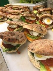 Pita sandwiches at Marcel Bakery & Kitchen