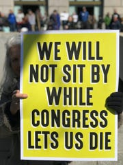A sign at the March For Our Lives rally in Washington D.C.