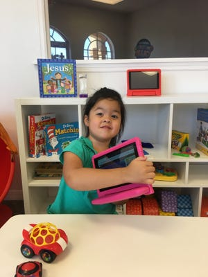 Lilly Nghi, 4, has sensory processing disorder and is developmentally delayed. She also has a place to play Sundays at the Champions Club at City First Church Cape Coral.