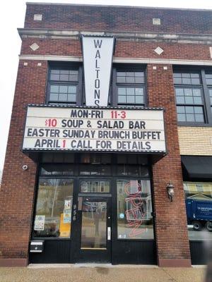 Walton's International Comfort Food is located on Parrett St. north of Haynie's Corner.