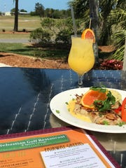 The orange juice is delicious at the Sebastian Golf