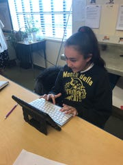 Toby Ritenour's students at Monte Bella Elementary School enjoying their new keyboards.