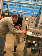 A Northfield Elementary father helps his child gain