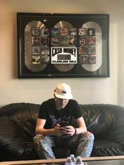 """Waynesboro's Andrew Hypes at Criteria Studios in Miami, Florida, the studio where James Brown recorded his first album """"I Got You."""" Hypes works there on multiple projects with hip-hop artists."""