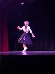 "LE Ann Elder Kalstein dances to ""Great Balls of Fire"""