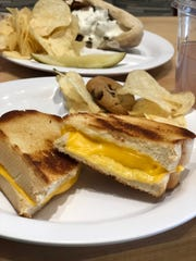 Grilled cheese and chips are on the kids menu at The Carrot Company.