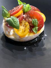A burrata dish at Palat in Miami, the newest eatery in the Aldo Lamberti Restaurant Family.