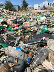 Plastic waste from the Caribbean washes up on Haiti's