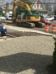 Equipment near opening of Shut Up and Eat's driveway in Toms River, April 17, 2018.
